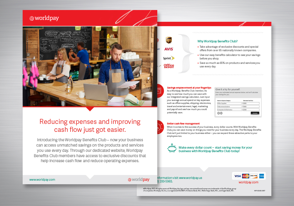 Worldpay Sell Sheet Design